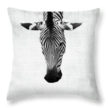 Zebra Being Normal Is Boring Throw Pillow