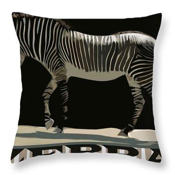 Zebra Design By John Foster Dyess Throw Pillow