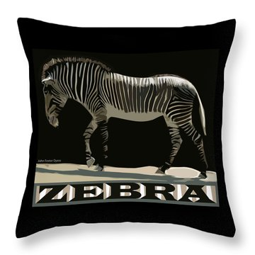 Throw Pillow featuring the digital art Zebra Design By John Foster Dyess by John Dyess