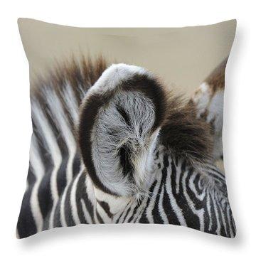 Zebra Ears Throw Pillow