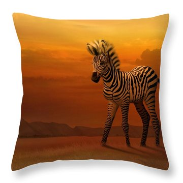 Zebra Fawn  Throw Pillow