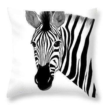 Zack A. Zebra Throw Pillow