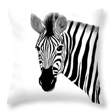 Zack A. Zebra Throw Pillow