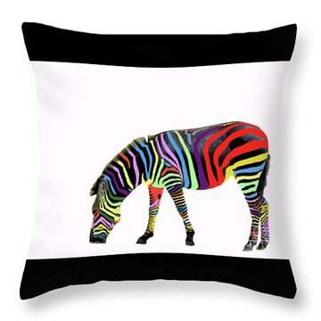 Throw Pillow featuring the photograph Zebra In My Dreams by Bonnie Barry