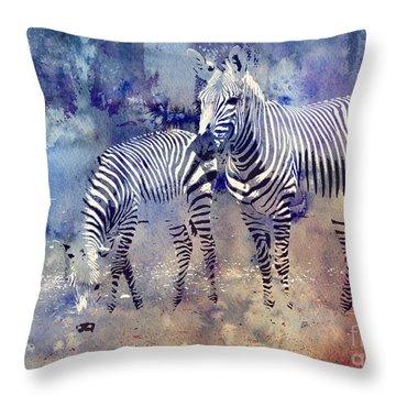 Zebra Paradise Throw Pillow