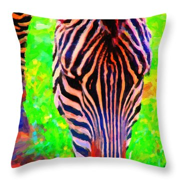 Zebra . Photoart Throw Pillow