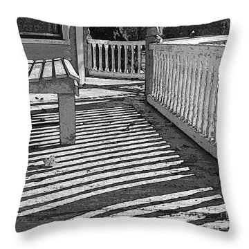 Throw Pillow featuring the photograph Zebra Porch by Betsy Zimmerli