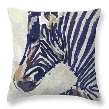 Zebra Resting Throw Pillow