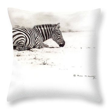 Zebra Sketch Throw Pillow