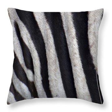 Zebra Skin Closeup Throw Pillow