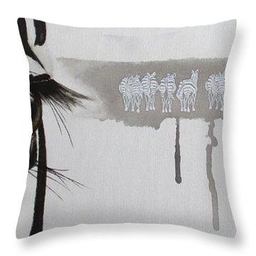 Zebra Tears Throw Pillow