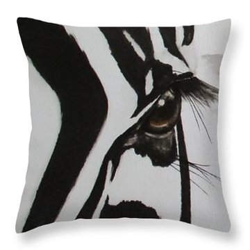 Zebra Tears Throw Pillow