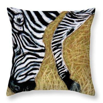 Zebra Zebra Throw Pillow by Jan Amiss