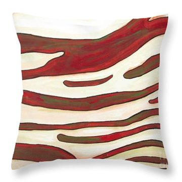 Zebra Zone - Color On White Throw Pillow