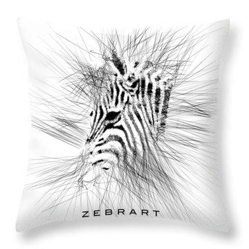 Zebrart Throw Pillow