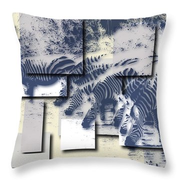Zebras Throw Pillow