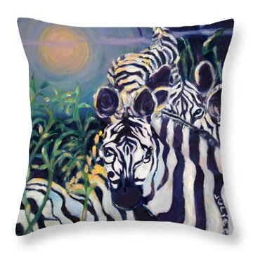 Zebras On The Savanna Throw Pillow