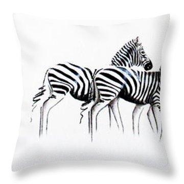 Zebrascape - Original Artwork Throw Pillow