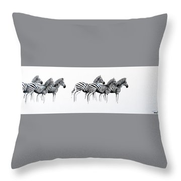 Zebrascape - Original Artwork Throw Pillow