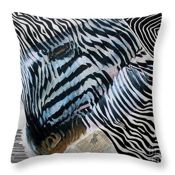 Zebratastic Throw Pillow