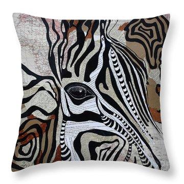 Zebroid Throw Pillow
