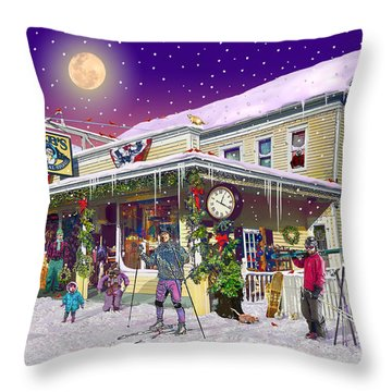 Zebs General Store In North Conway New Hampshire Throw Pillow