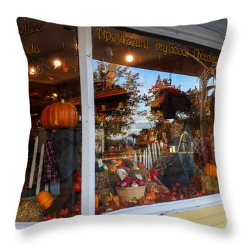 Zebs General Store North Conway 2 Throw Pillow