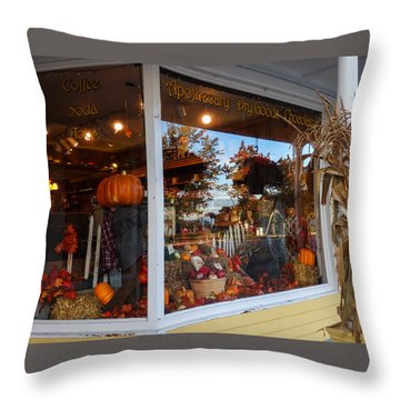 Zebs General Store North Conway 2 Throw Pillow by Nancy De Flon