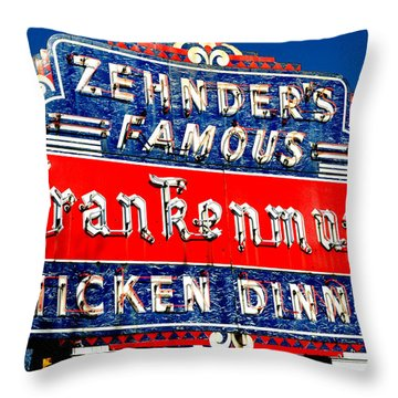 Zehnder's Frankenmuth Michigan Throw Pillow