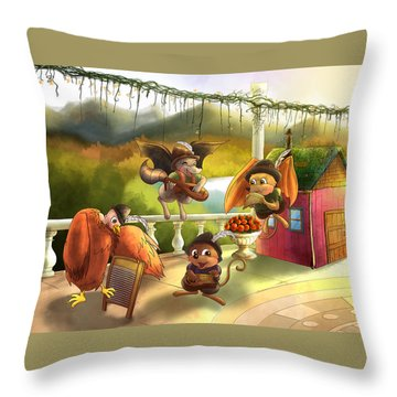 Zeke Cedric Alfred And Polly Throw Pillow