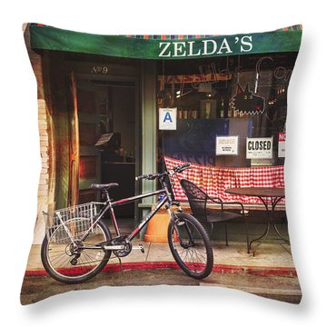 Throw Pillow featuring the photograph Zelda's Bicycle by Craig J Satterlee