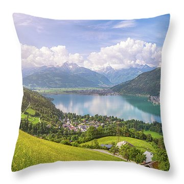 Zell Am See - Alpine Beauty Throw Pillow