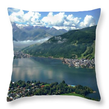 Zell Am See Panorama Throw Pillow