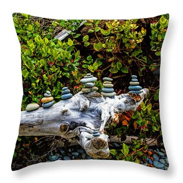 Zen Throw Pillow by Alana Thrower