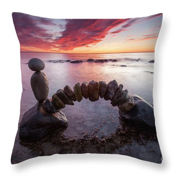 Zen Arch Throw Pillow