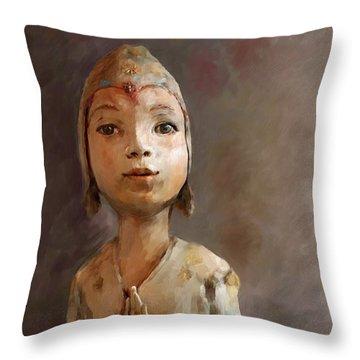 Zen Be With You Throw Pillow by Enzie Shahmiri