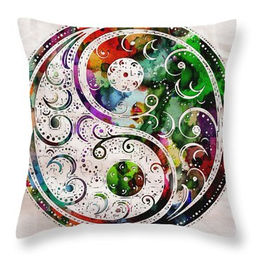 Zen Bliss Large Poster Print Throw Pillow