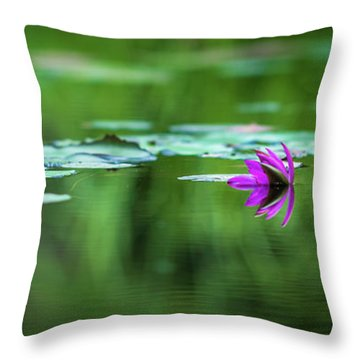 Zen Blossom Throw Pillow