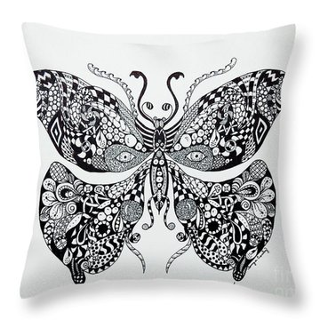 Zen Butterfly Throw Pillow