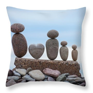Zen Family Throw Pillow