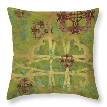 Zen Fly Colony Throw Pillow