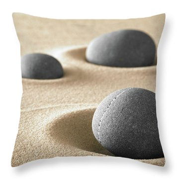 Throw Pillow featuring the photograph Zen Garden Meditation Stones by Dirk Ercken