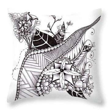 Zen Garden Throw Pillow
