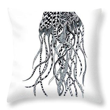 Zen Jellyfish Throw Pillow