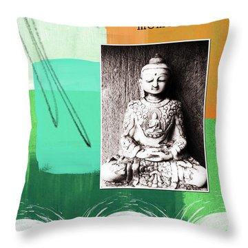 Zen Moments Throw Pillow by Linda Woods
