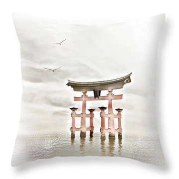 Zen Throw Pillow by Jacky Gerritsen