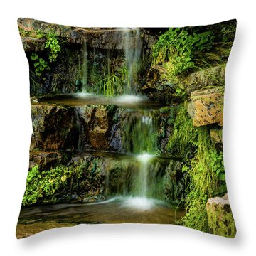 Throw Pillow featuring the photograph Zen Pools - Provo River Falls by TL Mair