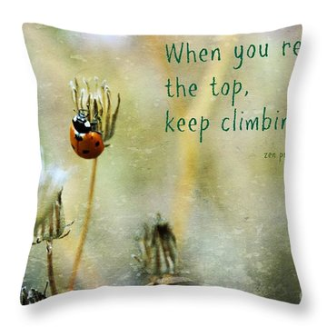 Zen Proverb Throw Pillow
