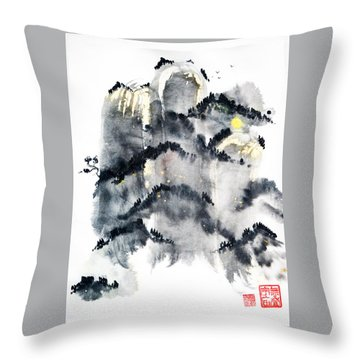 Zen Rising Throw Pillow