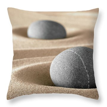 Throw Pillow featuring the photograph Zen Stone Garden by Dirk Ercken